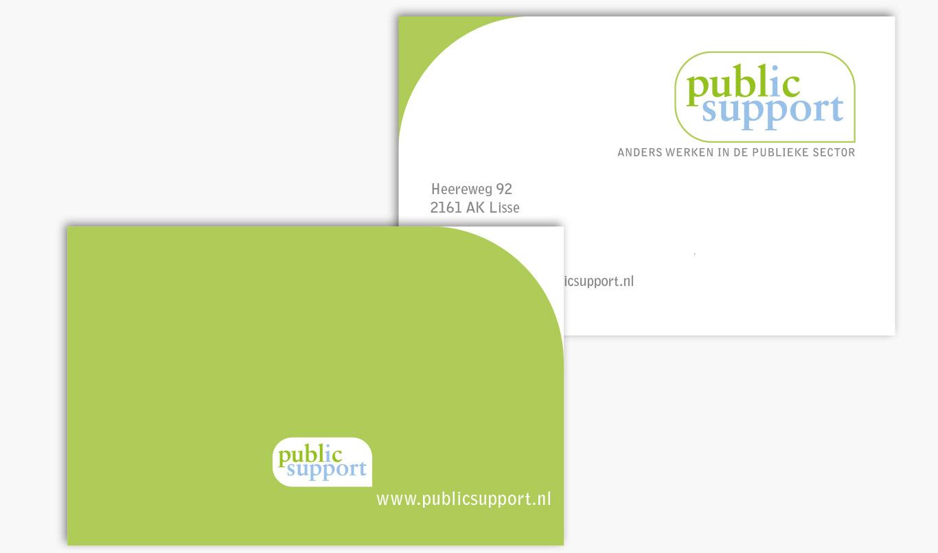 Public Support Visitekaartje Huisstijl